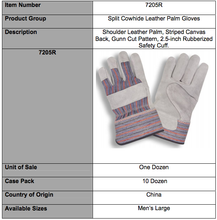Load image into Gallery viewer, Shoulder Split Rubberized Cuff Gloves