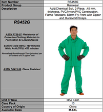 Load image into Gallery viewer, APEX-FR 2-PC Chemical Suit