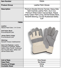 Load image into Gallery viewer, Premium Side Rubberized Cuff White Canvas Gloves