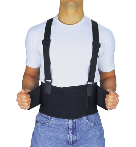 Back Support Belt with Break Away Suspenders