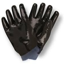 Black Neoprene Supported Latex Gloves