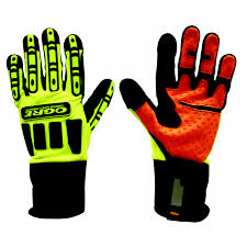 OGRE Lime And Orange Work Gloves