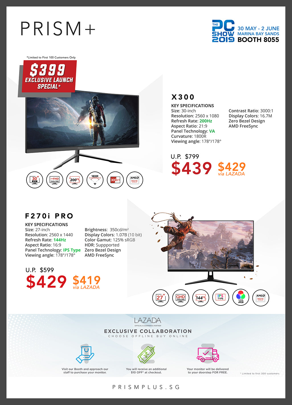 PC Show 2019 Brochure Page 1 (X300 + F270i PRO)