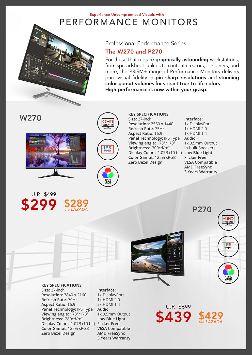 PC Show 2019 Brochure Page 5 (Performance Monitors)