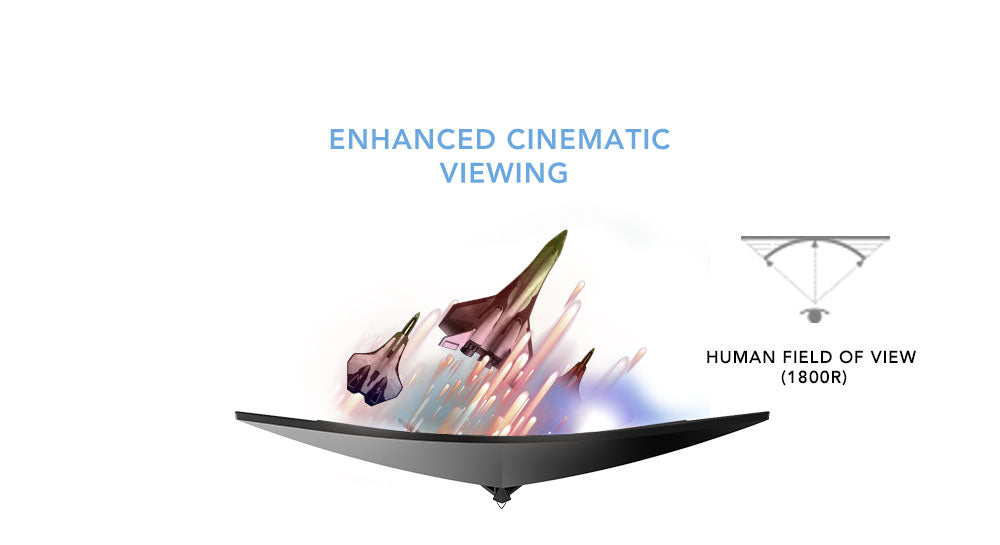 X300 1800R Curvature Enhanced Cinematic Viewing