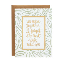 We were together--Walt Whitman Card