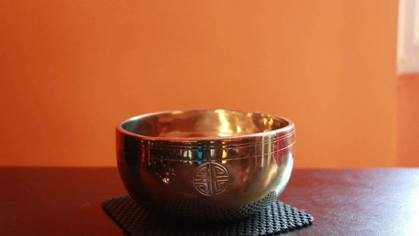 Contemporary Full Moon singing bowl FMG#13