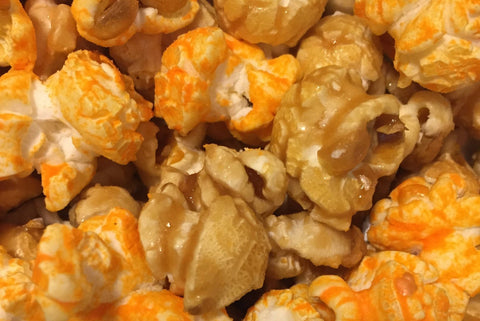 Harmony ~ Caramel Popcorn mixed with Cheddar Cheese Popcorn
