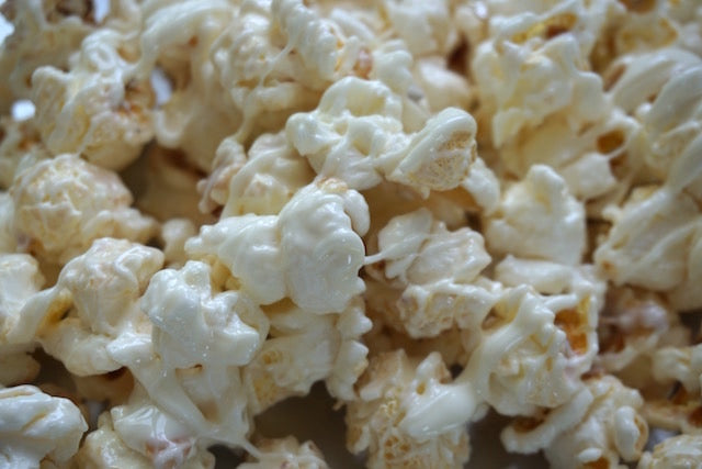 Opulence ~ White Chocolate Popcorn
