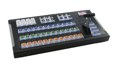 X-keys 124 T-Bar Keyboard with Video Switcher Key Set Bundle