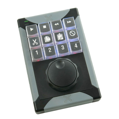 x keys 12 key programmable keypad with jog and shuttle x keys uk keyboard specialists ltd. Black Bedroom Furniture Sets. Home Design Ideas