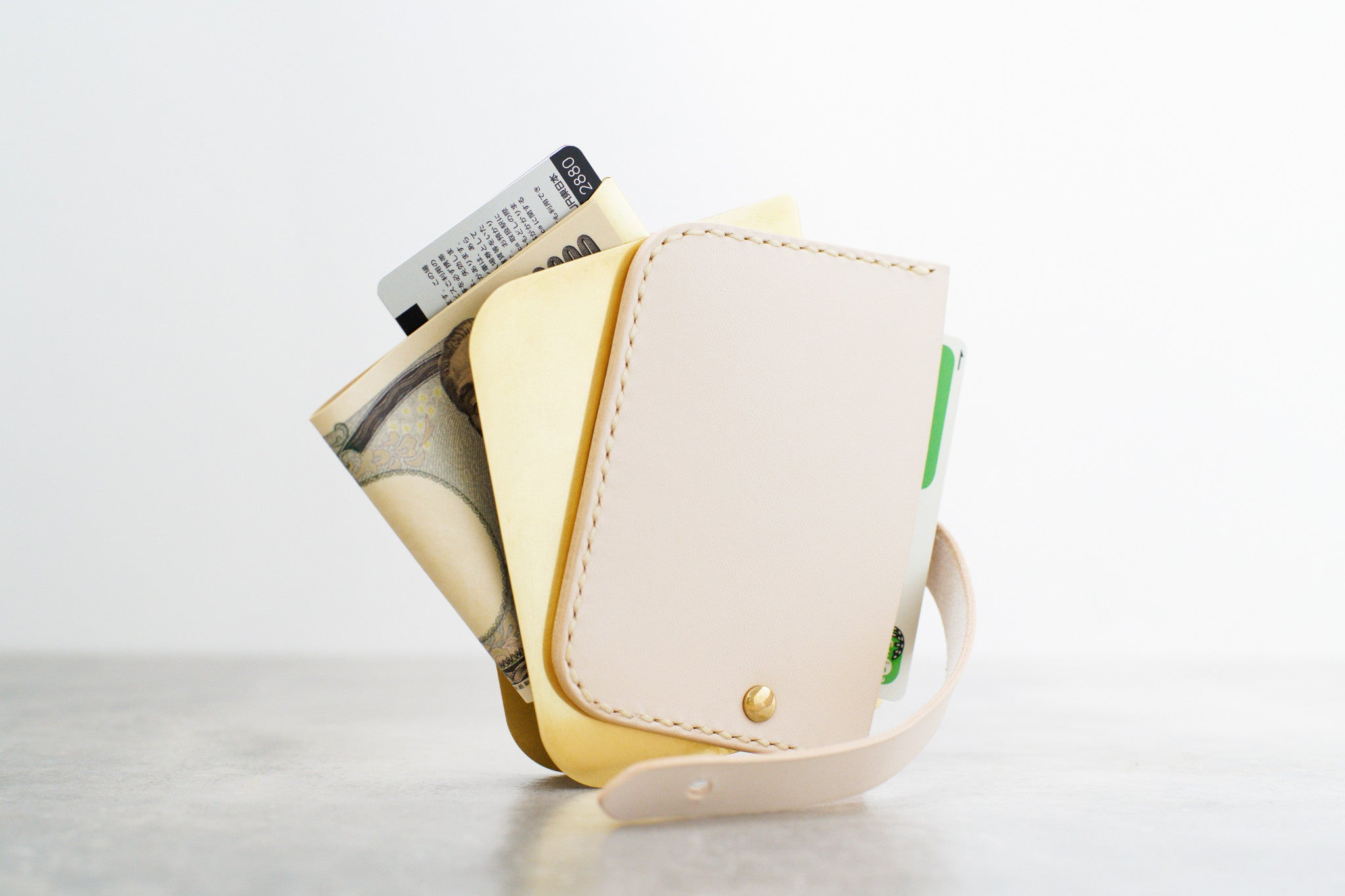 Leather Brass Wallet