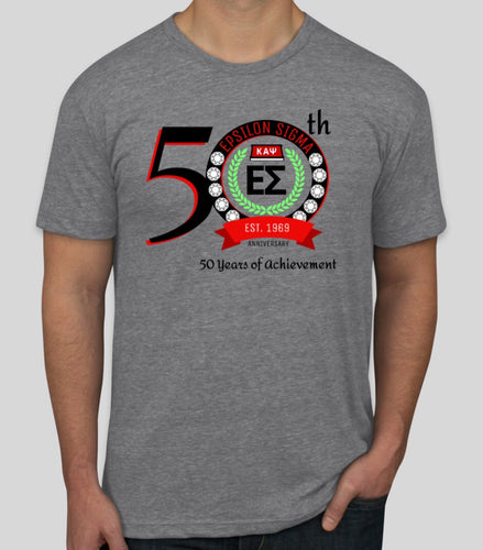 50th Anniversary - Epsilon Sigma T-Shirt - HEATHER GREY