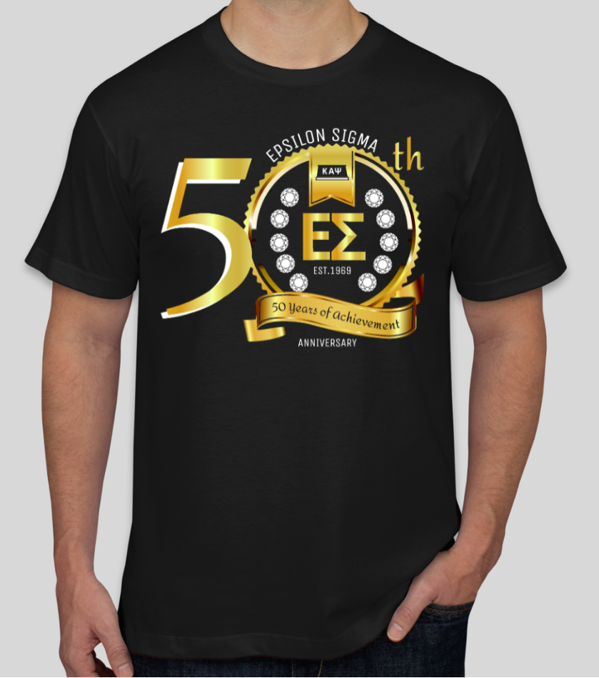 50th Anniversary - Epsilon Sigma T-Shirt - BLACK