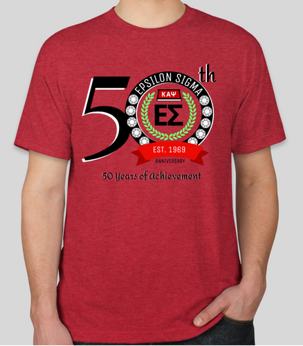 50th Anniversary - Epsilon Sigma T-Shirt - RED