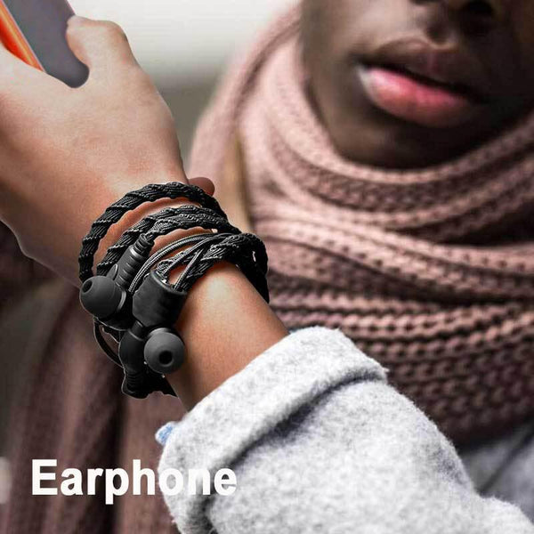 Waterproof Tangle-free Bracelet Earbuds