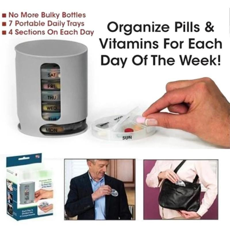 7 Day Pill Organizer Tower Case
