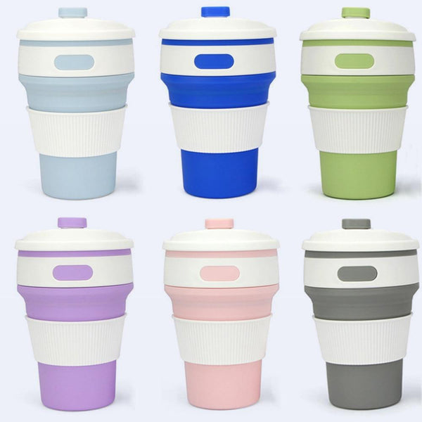 Collapsible Silicone Travel Mugs