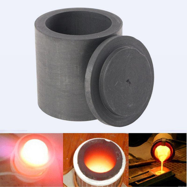 Purity Graphite Melting Crucible Casting With Lid Cover