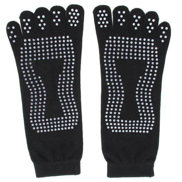 Five Fingers Non Slip Gym Socks with Massage Dots