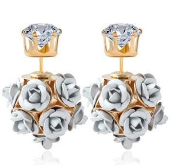 Double Side Rose Flower Earring