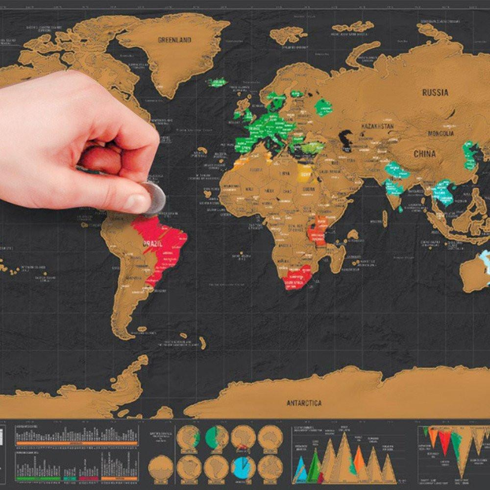 Deluxe Scratch Off World Map Special Edition for