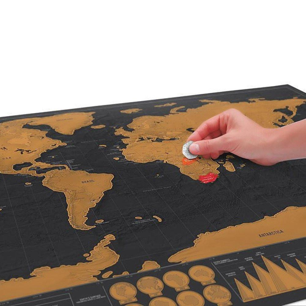 Deluxe Scratch Off World Map (Special Edition)