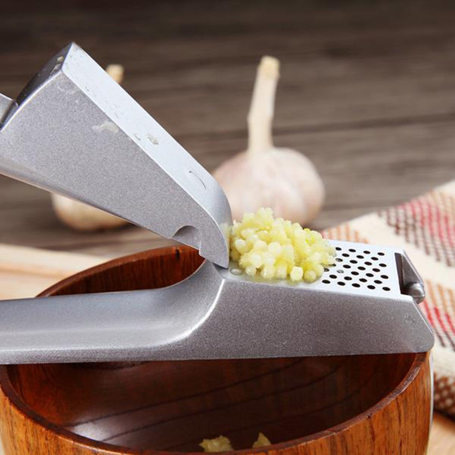 Aluminum Garlic Crusher
