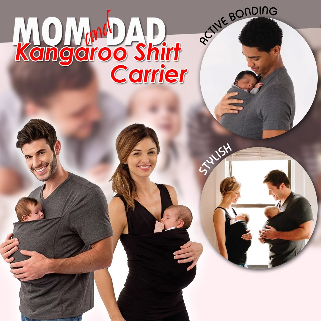 Mom & Dad Kangaroo Shirt Carrier