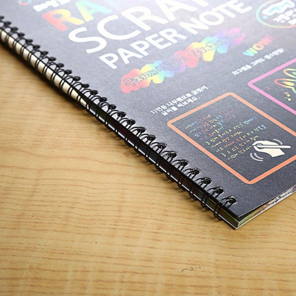 Scratch-Off Rainbow Notebook