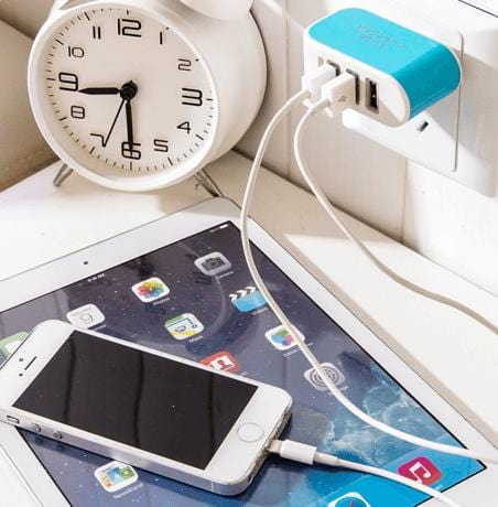 Portable 3 USB Port Wall Charger