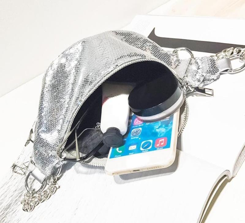 Mermaid Sequins Waist Bag