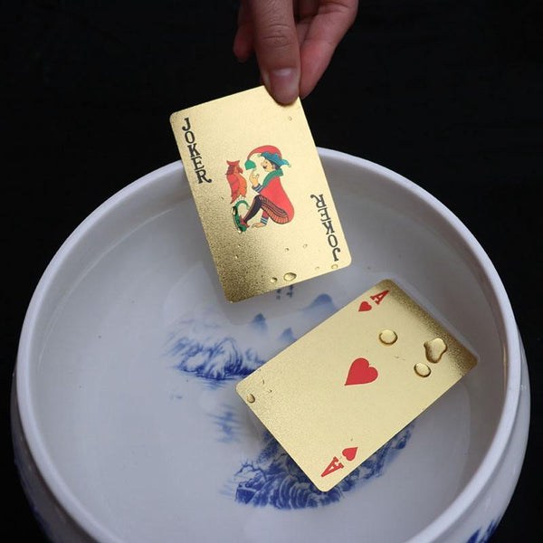 24K Novelty Gold Playing Poker Cards