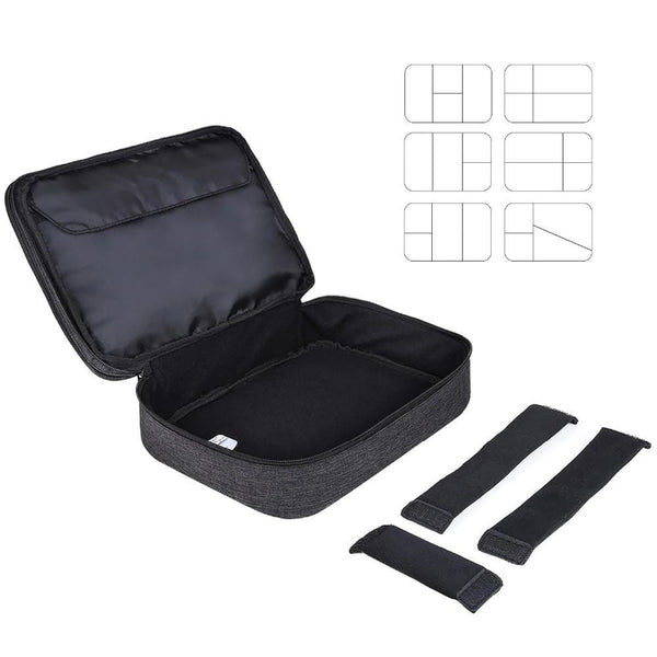 Water-repellent Electronics Travel Bag with Dividers