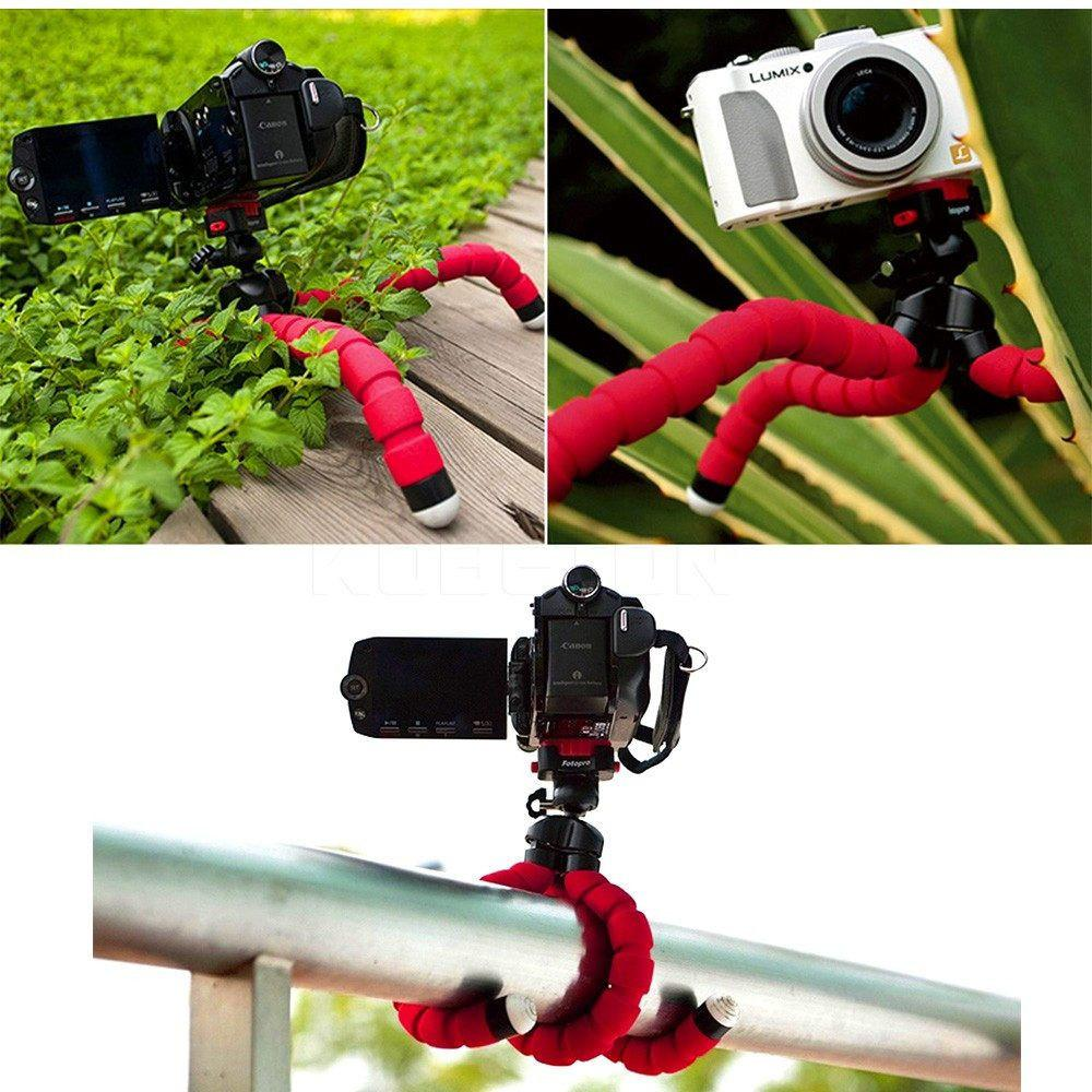 Mini Portable Flexible Sponge Octopus Tripod