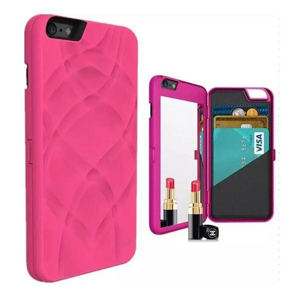 Fashionable Design Case with Hidden Mirror & Wallet - iPhone 7 6 6S 6 Plus 6S