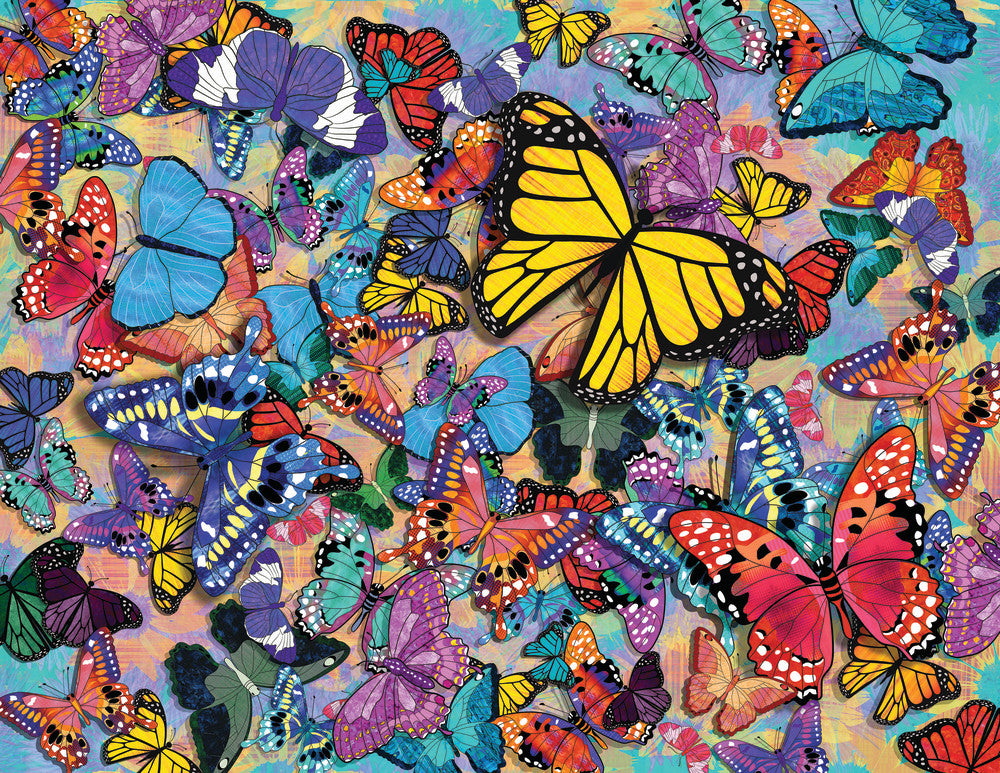 Butterfly Frenzy , 500 Piece Puzzle, by Springbok Puzzles