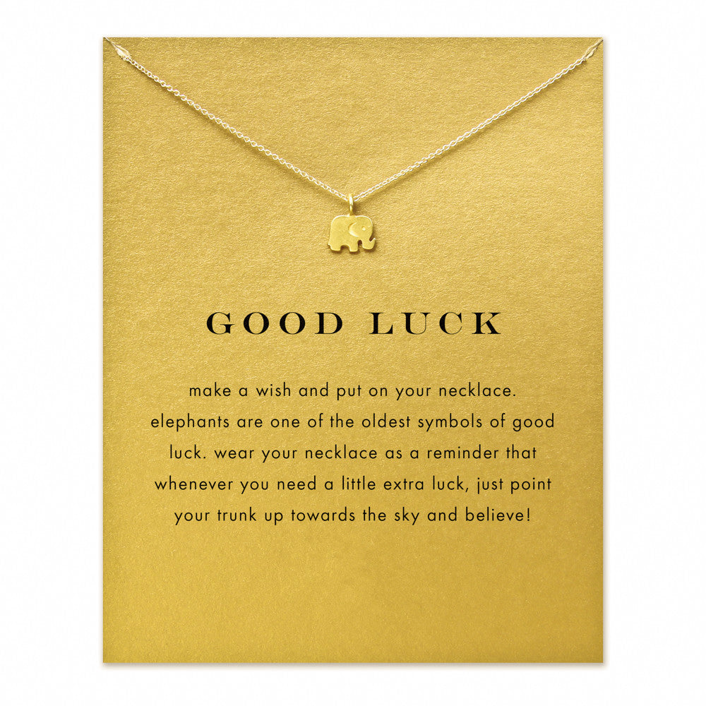 Good Luck Elephant Necklace Wildlify