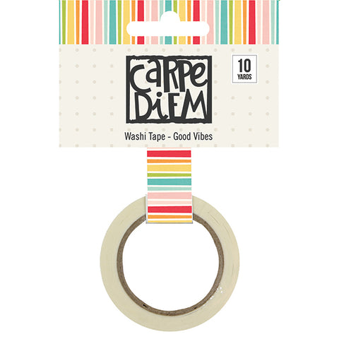 Carpe Diem Good Vibes Washi Tape - Strawberry Lime Designs