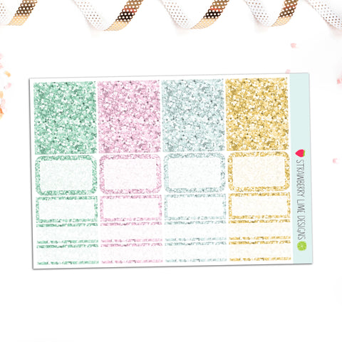 Cecily Glitter Sampler - Strawberry Lime Designs
