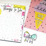 Things To Do Notepad - Strawberry Lime Designs