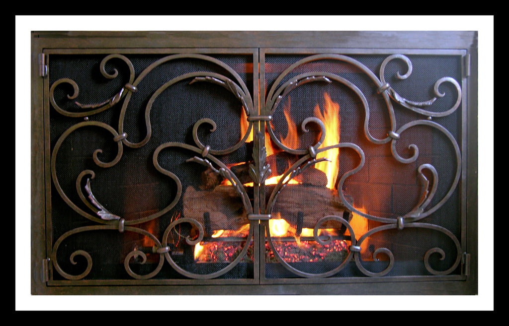 Barcelona Fireplace Screen Door