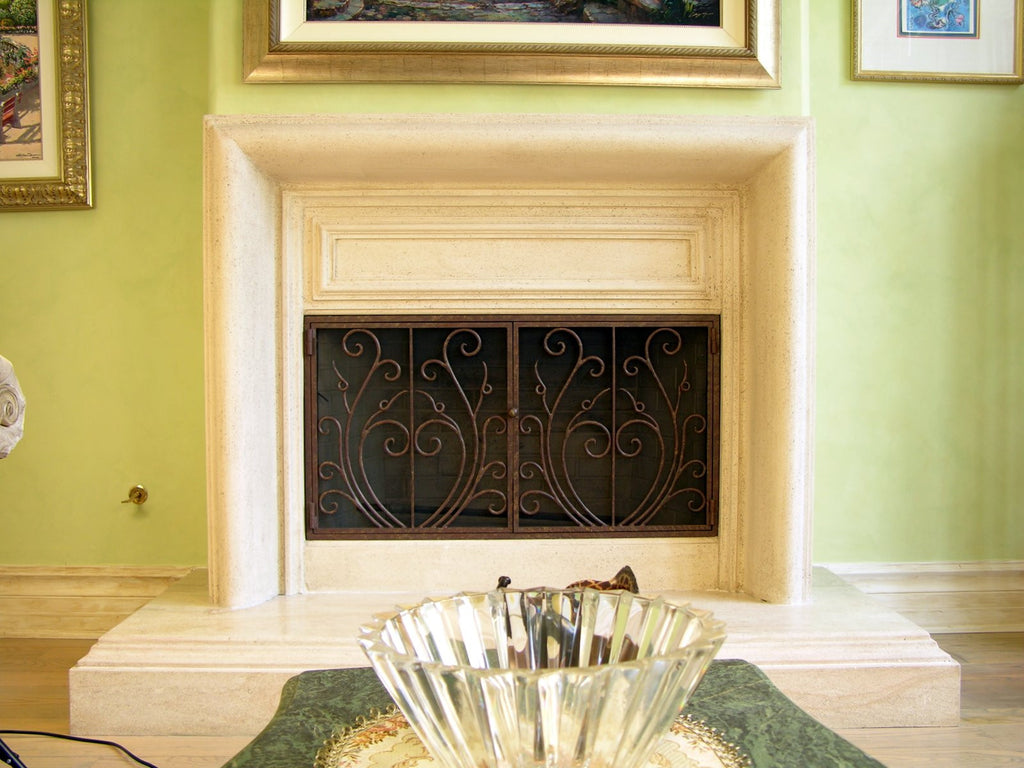 custom hand forged firescreens for your fireplace u2013 ironforge com