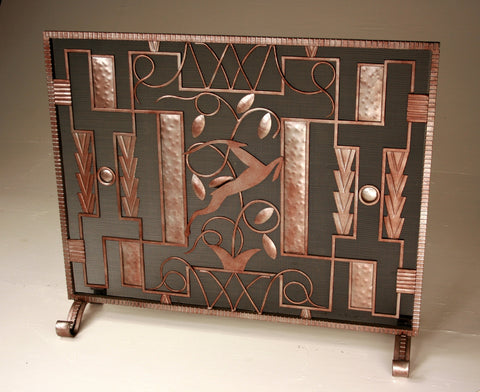 Standing Edgar Brandt Gazelle  Fireplace Screen