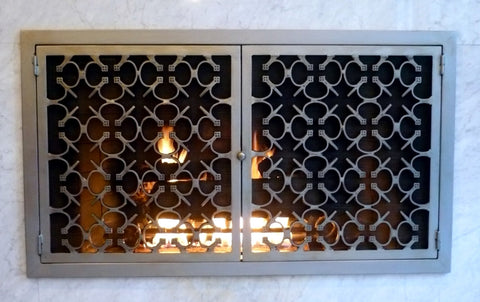 Parsival Fireplace Screen Door