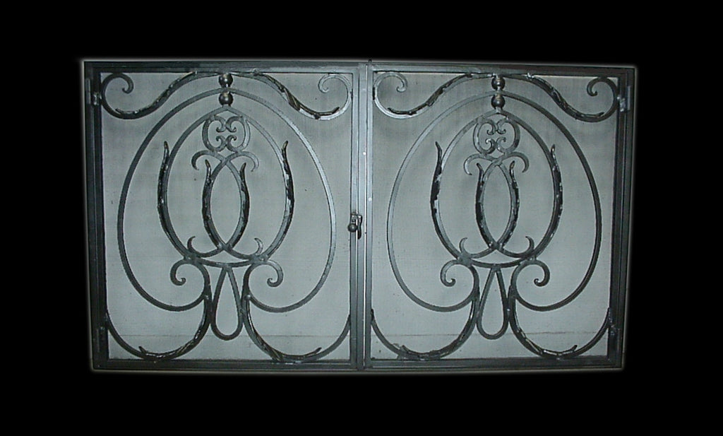 Rodeo  Fireplace Screen Door