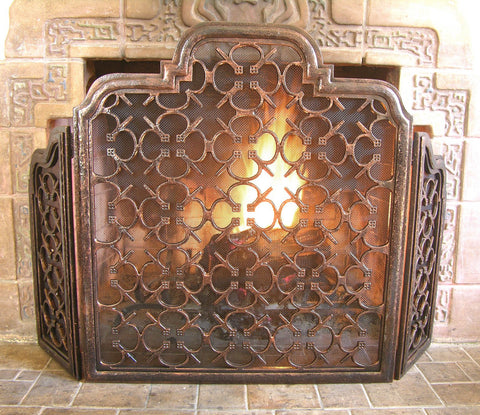 Parsival Three Leaf Fireplace Screen Door