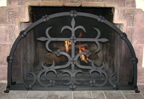 Camelot_freestanding Firescreen, hand forged