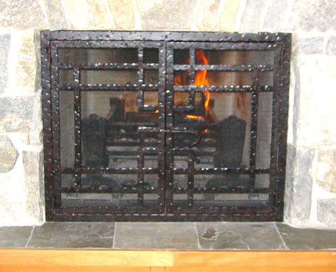 Craftsman Fireplace Screen Door