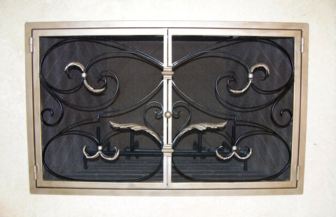 Donatella Fireplace Screen Door
